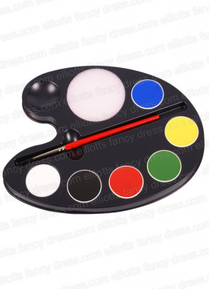 Kryolan Aquacolor Professional 6 Colour Face Painting Makeup Palette
