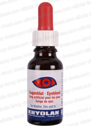 Kryolan Eye Blood 20ml (Black) - Make up