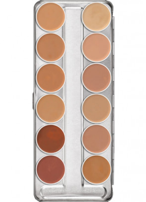 Kryolan Supracolor Palette - 12 TV colours
