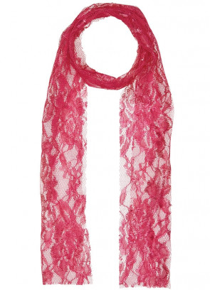 80s Pink Lace Scarf