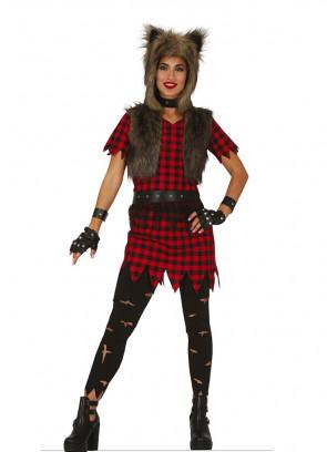 Ladies Rebellious Werewolf Costume