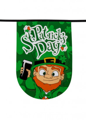 Large St Patrick's Day Bunting - 6m – 15 Rounded Flags 19x28cm