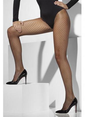 Black Lattice Net Tights - Dress Size 6-18