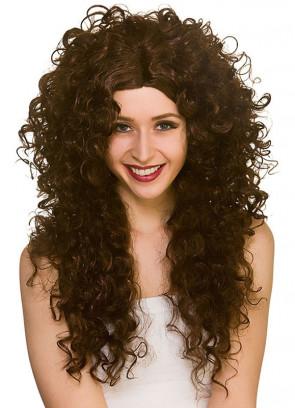 Long Curly Wig – Brown
