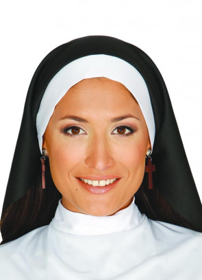Long Flowing Black and White nuns Habit Set
