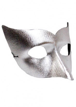 Long Nose Silver Half Eye Mask