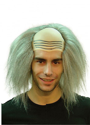 Mad Professor Wig - Grey hair and bald head