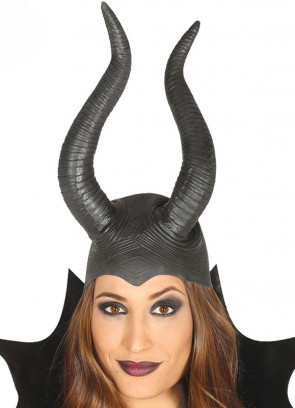 Latex Horns Headpiece - Lady Raven