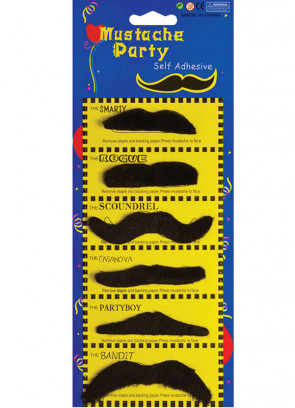 Black Moustaches (6 pack)