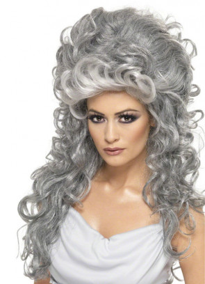 Medeia Witch Beehive Wig - Grey