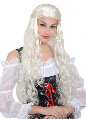 Medieval Lady Wig – White / Blonde