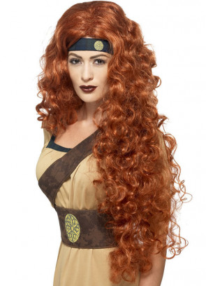 Brave Medieval Warrior Queen - Ginger Wig
