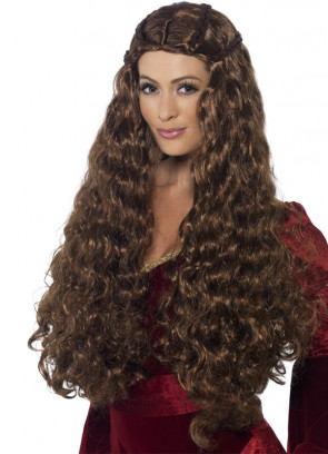 Medieval Princess - Thrones - Brown Wig