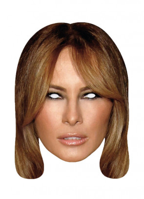 Melania Trump Card Mask