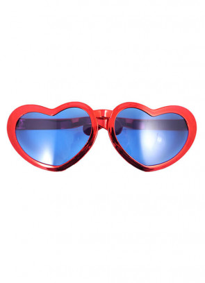 Giant Heart Sunglasses (Red)