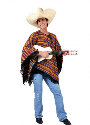 Mexican Poncho - Stripey