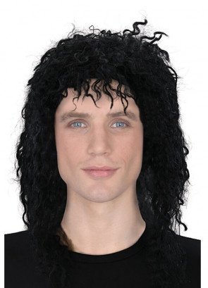 80's Superstar Michael Jackson - Black Curly Wig