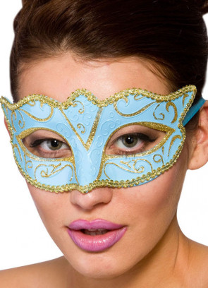 Calypso Eye Mask - Blue & Gold