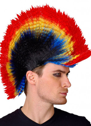 Punk Mohican (Multi Coloured) Wig