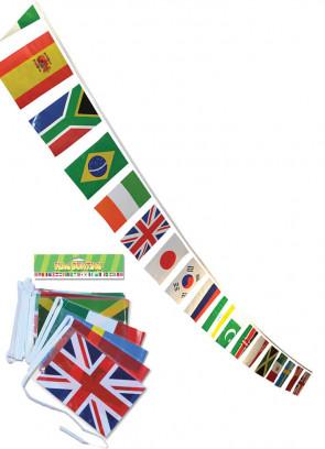 Multi-Nation Plastic Bunting 7m