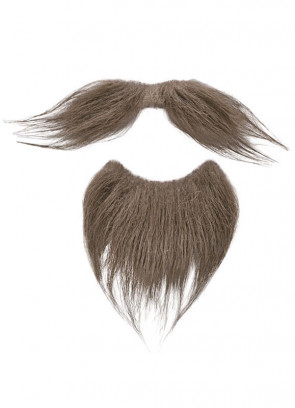 Musketeer Moustache & Beard (Brown)