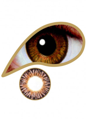 Golden Brown Coloured Contact Lenses - 30 Day Wear