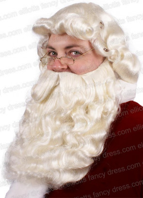 Santa Beard and Wig - Natural Colour