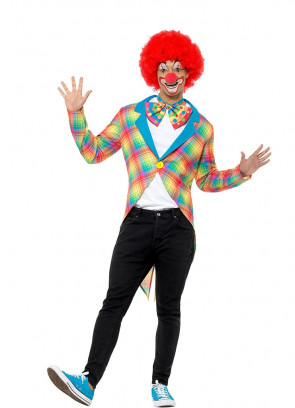 Neon Checked Clown Tailcoat