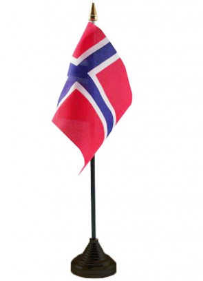 """Norway Table Flag 6"""" x 4"""""""