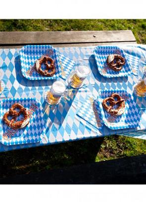 Oktoberfest Bavarian Paper Plates 25.5cm - 6pk