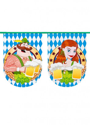 Oktoberfest Bavarian Bunting 8m – Single-sided