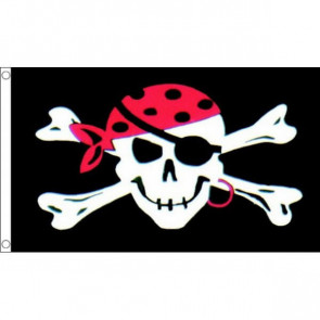 Pirate One Eyed Skull Flag 5x3