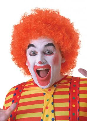 Orange Clown Afro Pop Wig