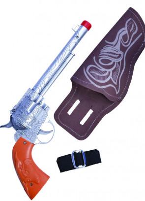 Cowboy Silver Gun & Holster