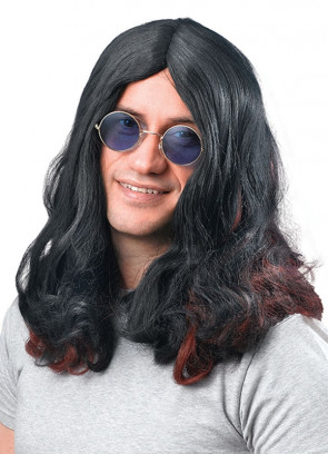 Ozzy Osbourne Black / Red Wig