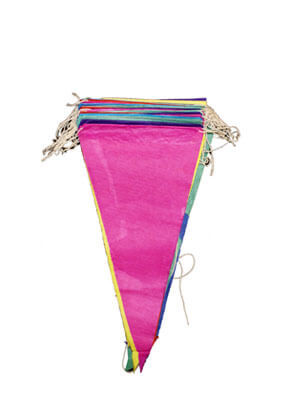 Multi Colour Paper Bunting (12pcs  12x10m)