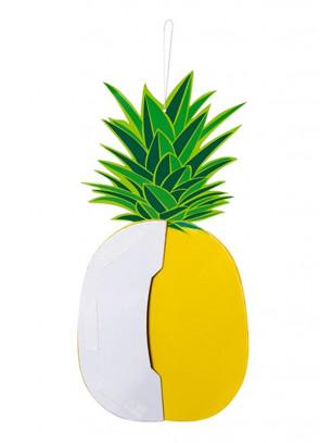 Tropical Pineapple Paper Honeycomb Decoration 30x14cm