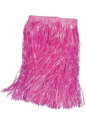 "Hawaiian Short Grass Skirt (Pink) - will fit up to waist size 36"" or 92cm"