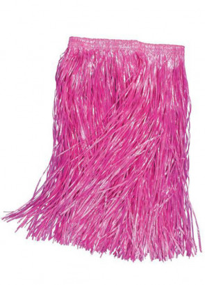 Hawaiian Pink Grass Skirt (Kids)