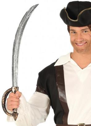 Pirate Captain Cutlass - Golden Handle - 68cm