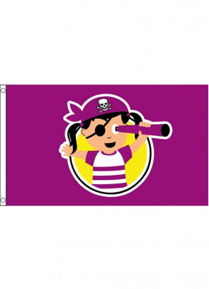 Pirate Girl Flag 5x3