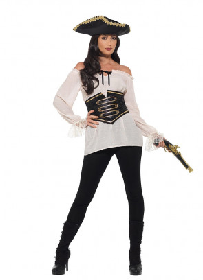 Pirate Shirt – Ladies – Ivory