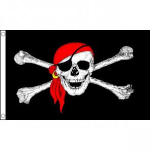Pirate Skull Bandana Flag 5ftx3ft