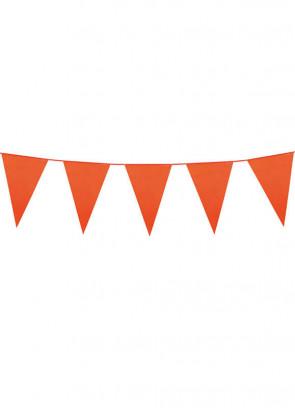 Large Orange Triangular Plastic Bunting 10m