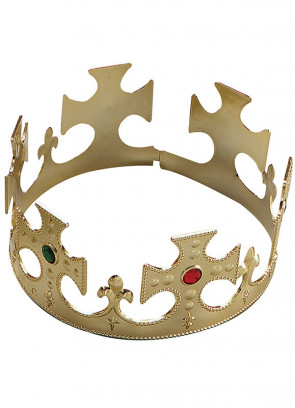 Gold Kings Crown With Jewels