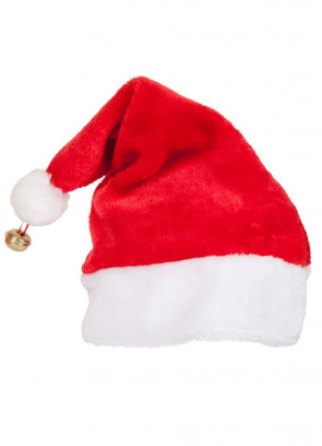 Plush Santa Hat with Bell