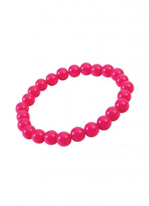 Pop Art Pearl Bracelet - Hot Pink