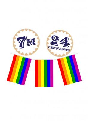 Pride Bunting – 7 Metres - 24 Flags - Nylon