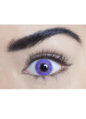 Pure Violet Coloured Contact Lenses - 3 Month Wear
