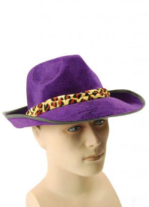 Purple Fedora Pimp Hat